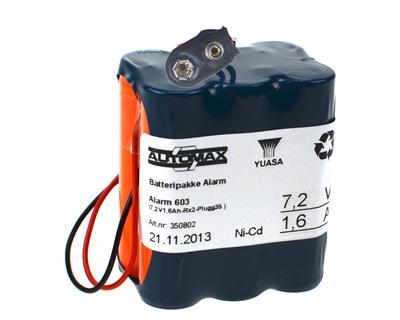 Alarm 603 (7,2V1,6Ah-Rx2-Plugg35 )