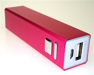 Power Bank Rosa 5 Volt (3,6V-2600mAh)