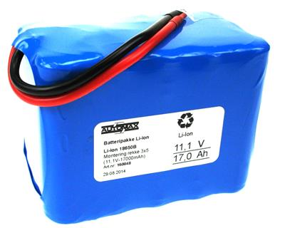 Li-Ion 18650B-MR 3x5 (11,1V-17000mAh)