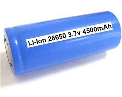Li-Ion ICR26650 (3.7V-4500mAh)