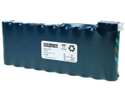 Silva batteripakke 6V-9Ah(A)(1x10)