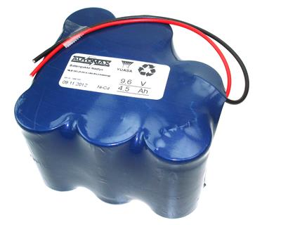 NLB 805 (9,6V-4,5Ah-Rx3-ledninger)