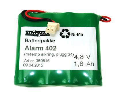 Alarm 402 (4,8V1,8Ah-R-Temp-Plugg34)