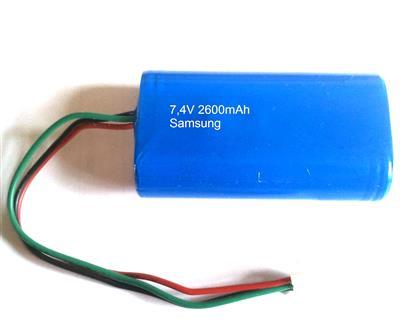 Li-Ion 18650-26F-2S1P (7,4V-3400mAh)