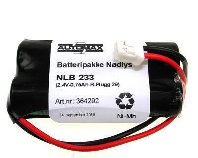 NLB 233  (2,4V-0,75 Ah-R-Plugg 29)