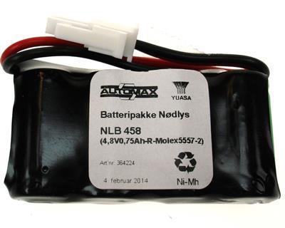 NLB 458 (4,8V0,6Ah-R-Plugg 12)