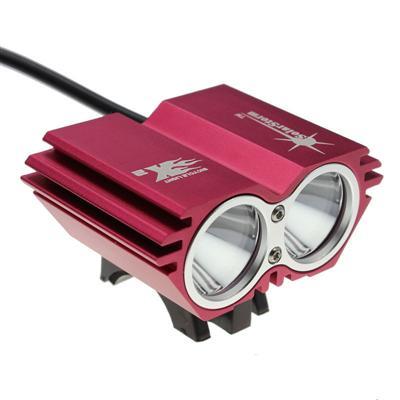 Sykkel lykt 2 x LED med lader og batteri