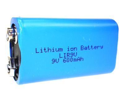 Li-Ion 6F22 9V 600mAh