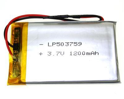 Li LP503759 (3.7V 1200mah m/PCB)