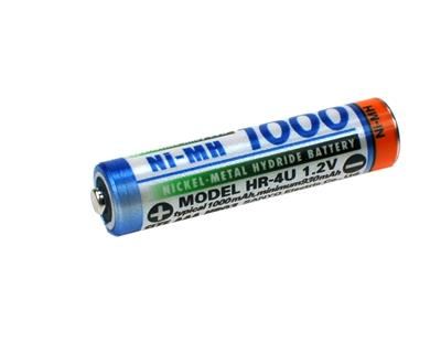 YNM AAA 1000 mAh (Ni-Mh)(High Hat)