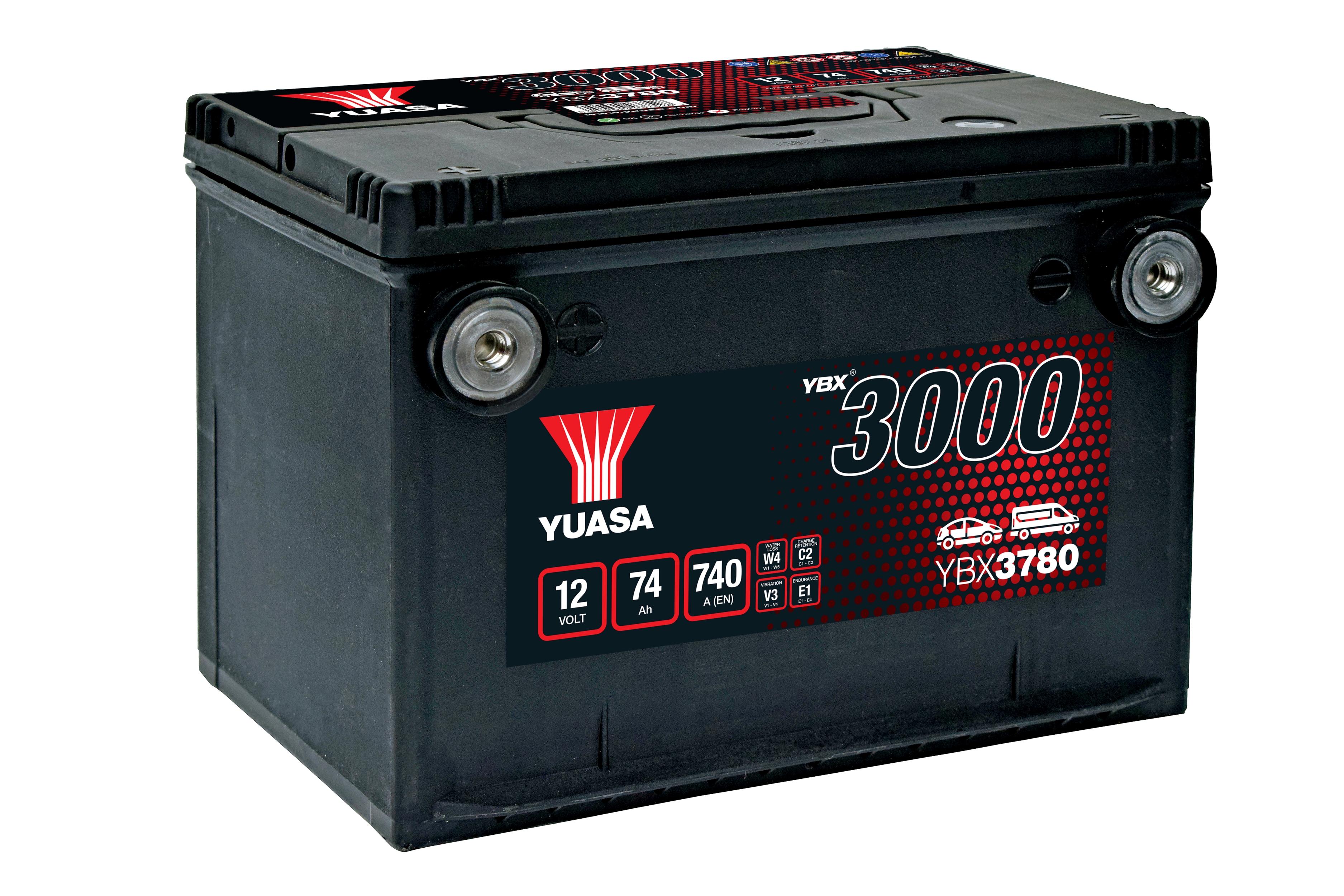 YBX3780 12V 74Ah 740A Yuasa SMF Battery