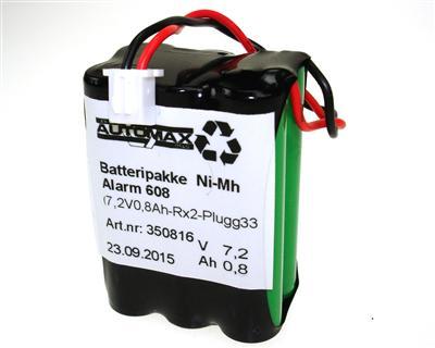 Alarm 608 (7,2V 0,8Ah-R X2 Plugg 33