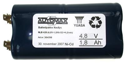 NLB 420 (4,8V-1,8Ah-S2-+4,8mm)