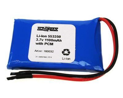 Li-Ion 553350 3.7v 1100mAh with PCM