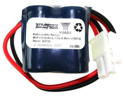 NLB 430 (4,8V-1,0Ah-R2-Plugg 12 polvent)
