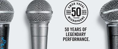 Shure SM58 feirer 50 år!