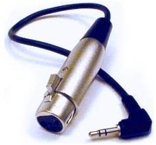 Hosa kab XLRF-stereo minijack 30 cm