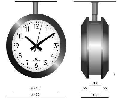 GORGY inn/utendørs analog ur, Handi 430S