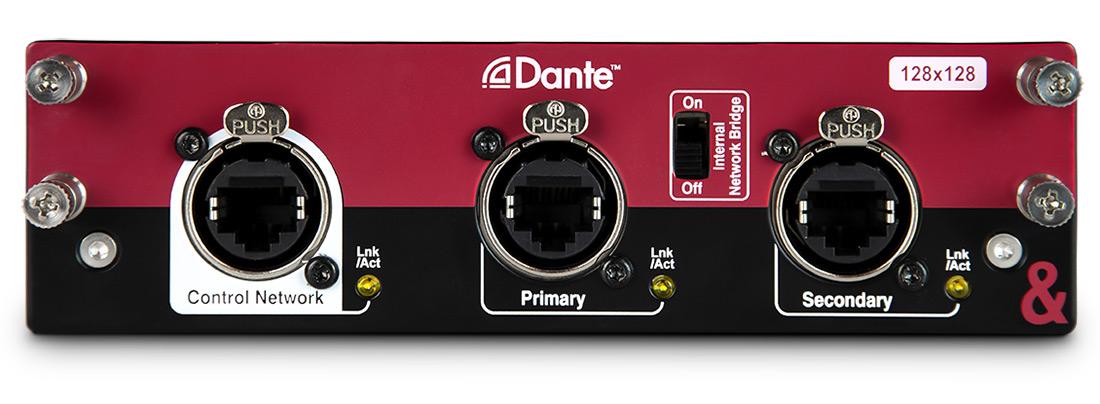 A&H DANTE card 128 x 128 96kHz