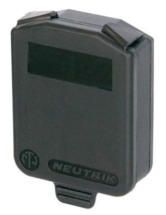 Neutrik Hinged cover for D size, IP54, sort