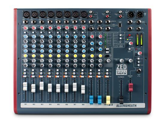 A&H ZED60-14FX 8 Mono 2 Stereo with USB