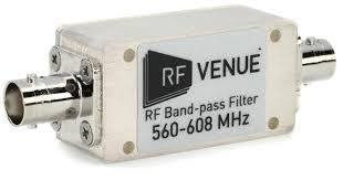 RF Venue Bandpass Filter 560-608MHz