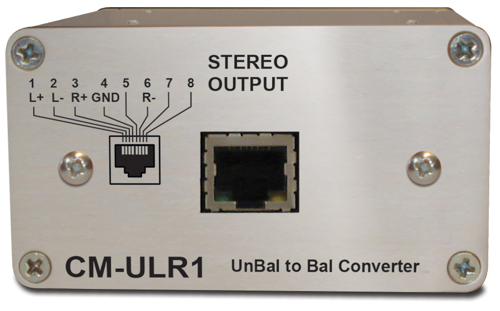 Sonifex Unbalanced to Bal. Converter, Passive, RCA to RJ45
