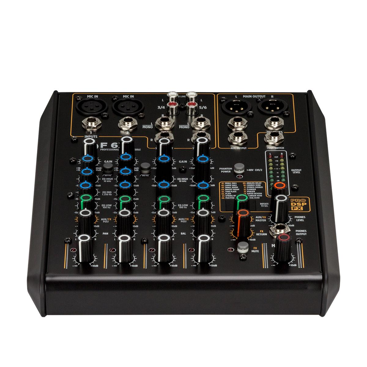RCF F 6X 90-240V 6 channel mixing console with multi-FX