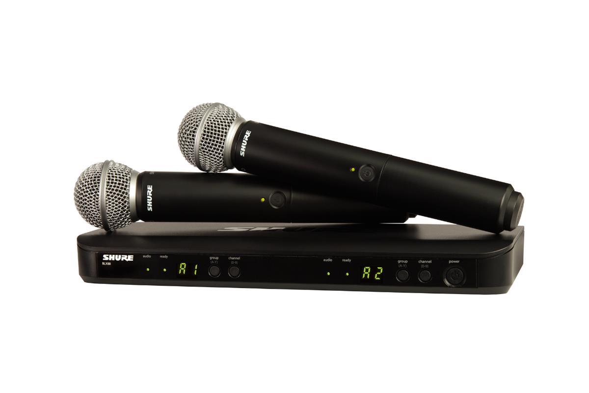 Shure BLX288-SM58 dual receiver med 2x SM58