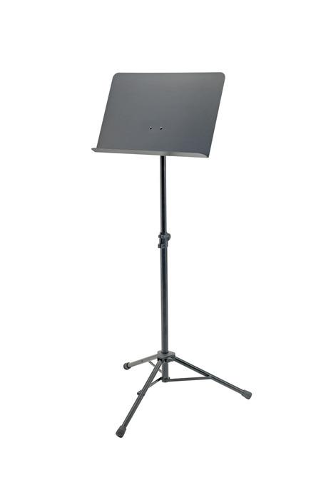 K&M 11940 Orkesternotepult med stålplate. Sort