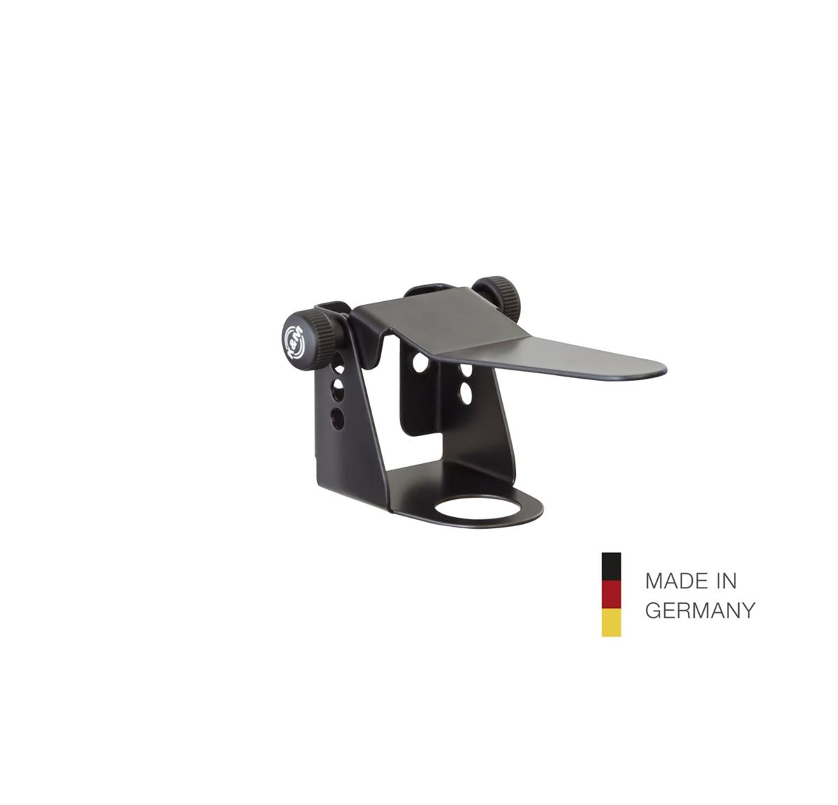 K&M 80398 Holder with lever for Disinfectan,25mm, black