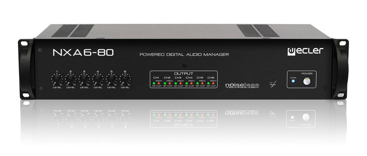 Ecler NXA6-80 6 x 80W eNET powered manager