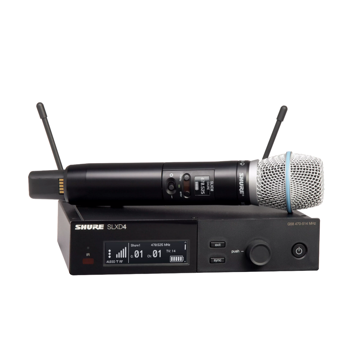 Shure SLX-D Handheld System BETA87A Microphone - 823-865MHz