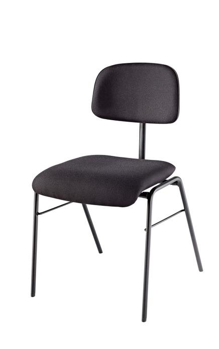 K&M 13420 stablestol, sete med sort stoff, sorte stålben