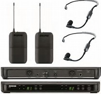 Shure BLX188 Dual headset system med SM35