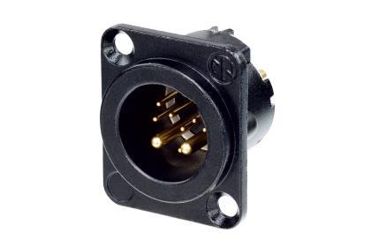 Neutrik NC10MD-LX-B XLR chassis 10P 8+2 strøm CAT5e han sort