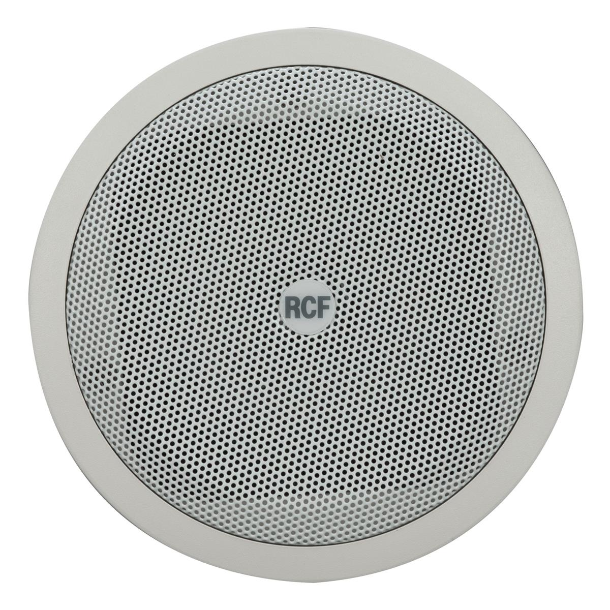 RCF 6in twin-cone flush mounting ceiling speaker, white, 6W,