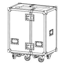 Adamson M212 Flight Case Twinpack