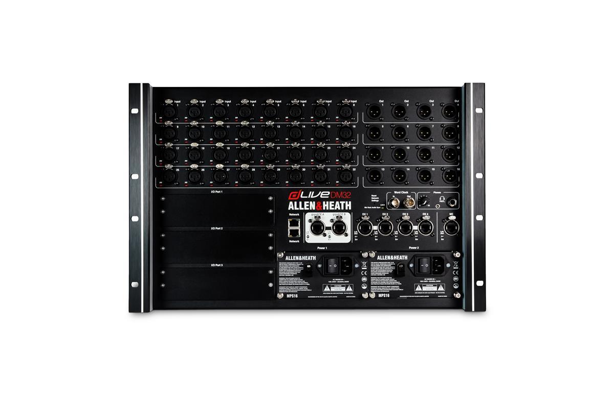 dLive DM32 MixRack, 32/16 XLR, 1x PSU, GigaACE, ME-1, 3xI/O