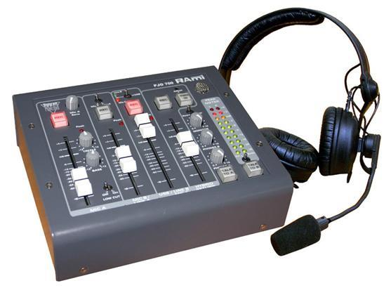 RAMI Workstation mixer with USB, incl. telephonehybrid