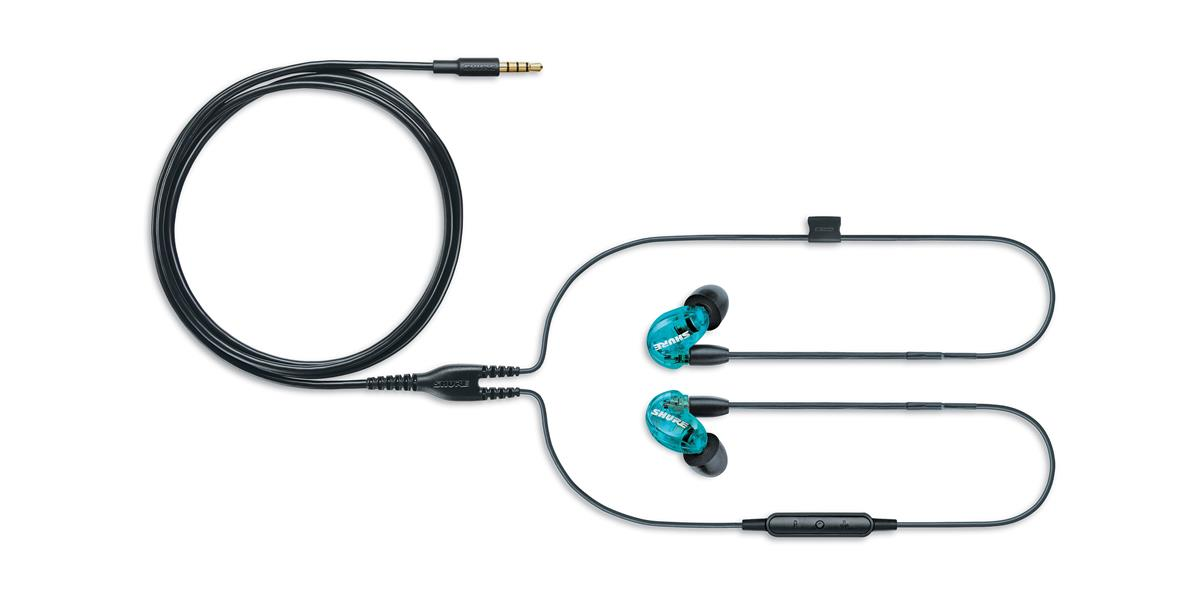 Shure SE215 Earphone (w/ RMCE-UNI) Blue Special Edition