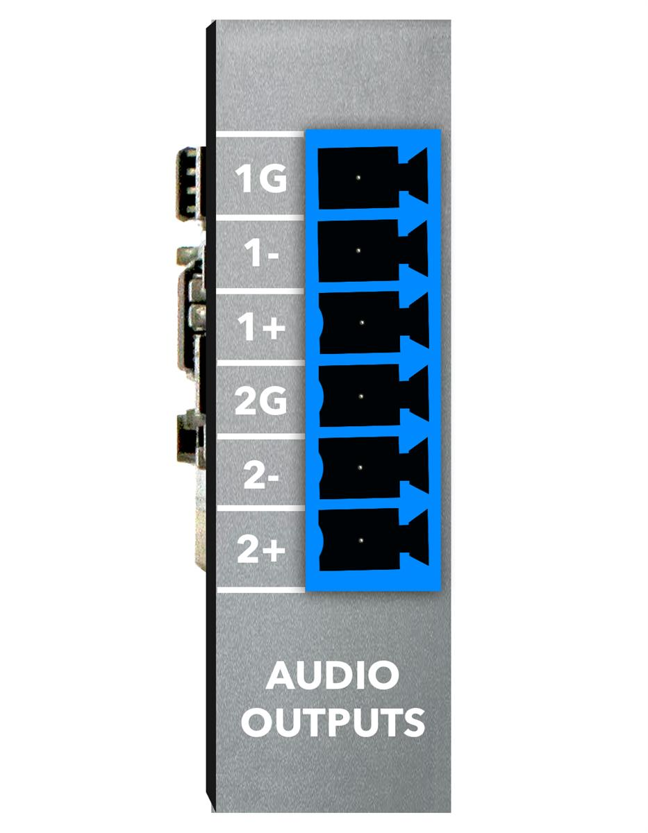 Xilica 2ch line output - modular plug-in card(blue).