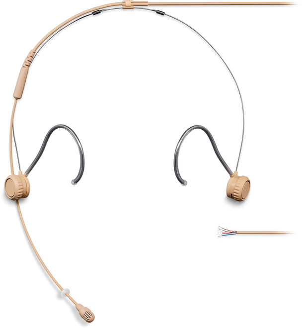 Shure TH53 Headset Omni 1.6mm Cab NoCon Tan