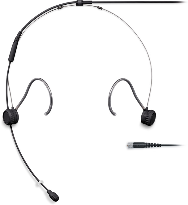 Shure TH53 Headset Omni 1.6mm Cab MDOT Black
