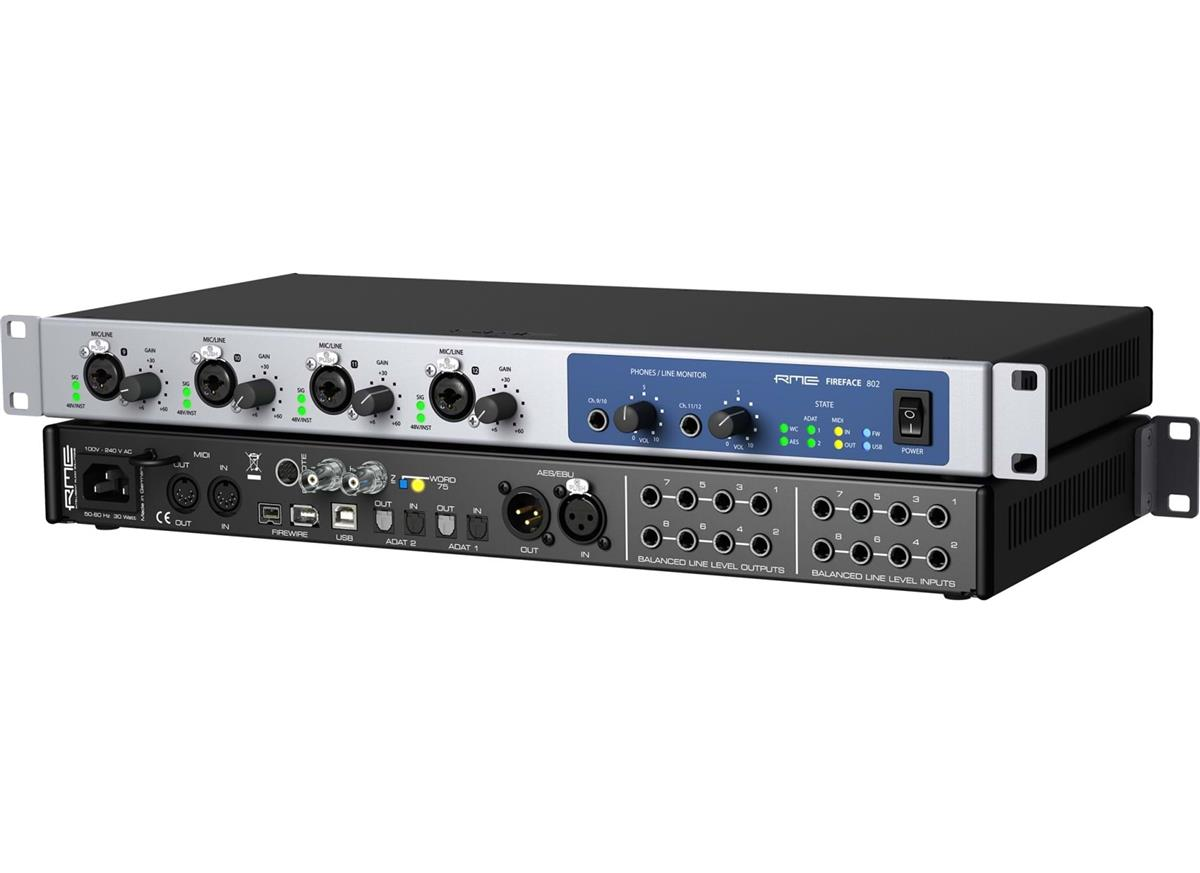 RME Firewire & USB Audio Interface 60-channel, 192kHz