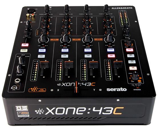XONE:43 Club&DJ Mix int.Soundcard.4 Stereo Chns,2 Mix Outp