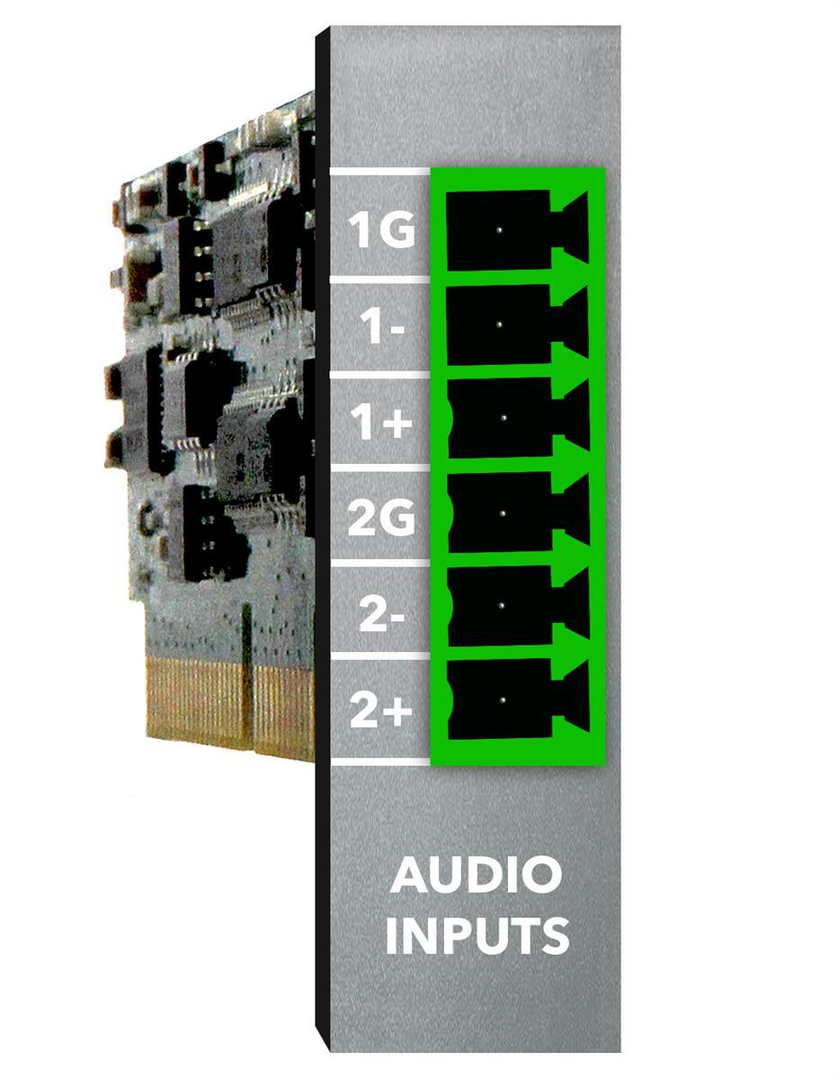 Xilica 2ch line input - modular plug-in card.