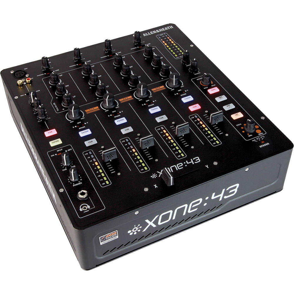 XONE:43 Club & DJ Mixer. 4 Stereo Channels, 2 Mix Outputs