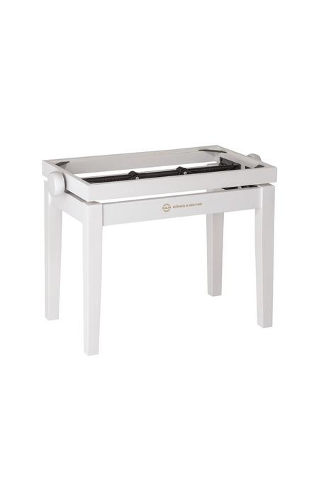 K&M 13710 Pianobenk tre-ramme, bøk, hvit matt finish