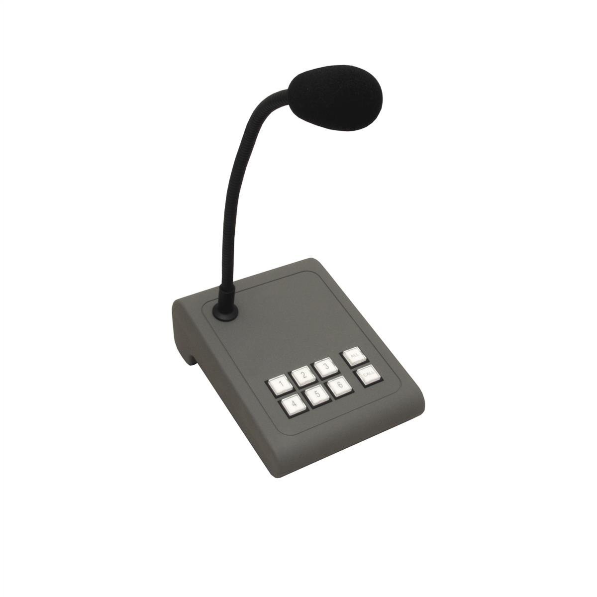 Apart 6-Zone paging microphone with gooseneck